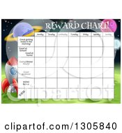 Space Exploration Themed Reward Chart For Children
