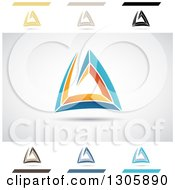 Clipart Of Abstract Letter A Atlantis Design Elements Royalty Free Vector Illustration