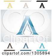 Clipart Of Abstract Letter A Acropolis Design Elements Royalty Free Vector Illustration by cidepix