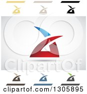 Clipart Of Abstract Letter A Air Sharp Design Elements Royalty Free Vector Illustration