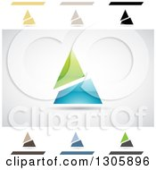 Clipart Of Abstract Letter A Angle Split Pyramid Design Elements Royalty Free Vector Illustration