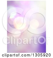 Clipart Of A Purple And Pink Abstract Bokeh Flare Background Royalty Free Illustration