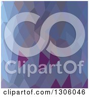 Clipart Of A Low Poly Abstract Geometric Background Of Pastel Purple And Blue Royalty Free Vector Illustration