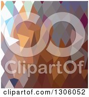 Clipart Of A Low Poly Abstract Geometric Background Of Cocoa Brown Royalty Free Vector Illustration by patrimonio