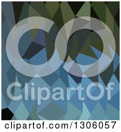 Clipart Of A Low Poly Abstract Geometric Background Of Green And Blue Sapphire Royalty Free Vector Illustration