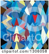 Clipart Of A Low Poly Abstract Geometric Background Of Blue Sapphire Royalty Free Vector Illustration