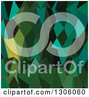 Clipart Of A Low Poly Abstract Geometric Background Of Brunswick Green Royalty Free Vector Illustration