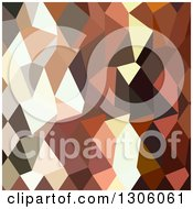 Clipart Of A Low Poly Abstract Geometric Background Of Burnt Sienna Royalty Free Vector Illustration