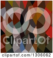Clipart Of A Low Poly Abstract Geometric Background Of Burnt Amber Royalty Free Vector Illustration