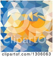 Azure Blue Abstract Low Polygon Background