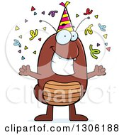 Clipart Of A Cartoon Happy Flea Character Celebrating At A Party Royalty Free Vector Illustration by Cory Thoman