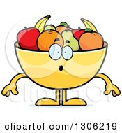 Cartoon Surprised Fruit Bowl Character Gasping