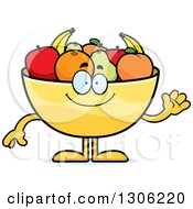 Cartoon Happy Friendly Fruit Bowl Character Waving