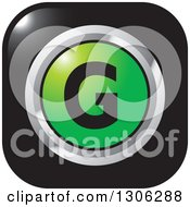 Clipart Of A Gradient Green And Chrome Letter G Alphabet Icon Design Royalty Free Vector Illustration