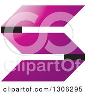 Clipart Of A Purple Paper Letter Alphabet S Design Royalty Free Vector Illustration by Lal Perera