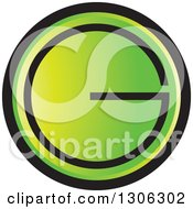 Clipart Of A Gradient Green And Black Round Letter G Alphabet Design Royalty Free Vector Illustration