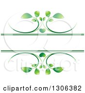 Clipart Of A Green Heart And Vine Frame Royalty Free Vector Illustration