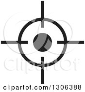Clipart Of A Black And White Target Royalty Free Vector Illustration by Lal Perera