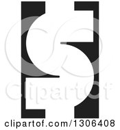 Clipart Of A White USD Dollar Currency Symbol On Black Royalty Free Vector Illustration by Lal Perera