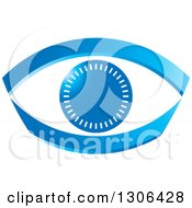 Clipart Of A Blue Abstract Eye With Notches Royalty Free Vector Illustration by Lal Perera