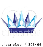 Clipart Of A Blue And Purple Crown Royalty Free Vector Illustration by Lal Perera