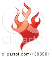 Clipart Of A Gradient Red Fire Royalty Free Vector Illustration