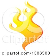 Clipart Of A Gradient Yellow Fire Royalty Free Vector Illustration