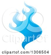 Clipart Of A Gradient Blue Fire Royalty Free Vector Illustration