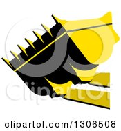 Clipart Of A Black And Yellow Industrial Bulldozer Bucket Royalty Free Vector Illustration by Lal Perera