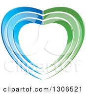 Green And Blue Heart
