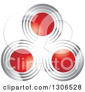 Clipart Of A Design Of Red Circles With Silver Royalty Free Vector Illustration by Lal Perera