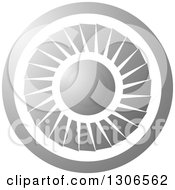 Clipart Of A Round Silver Jet Engine Royalty Free Vector Illustration by Lal Perera