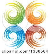 Clipart Of A Colorful Abstract Design Of Spirals Royalty Free Vector Illustration by Lal Perera