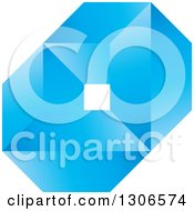 Clipart Of A Blue Abstract Diamond And Geometric Design Royalty Free Vector Illustration by Lal Perera