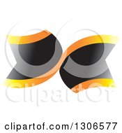 Clipart Of Abstract Black And Gradient Orange Banners Royalty Free Vector Illustration by Lal Perera