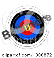 Baltimore Riots Bullseye Target With Text Over White