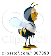 Clipart Of A 3d Happy Bee Doctor Facing Right Royalty Free Illustration by Julos