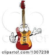 Clipart Of A Cartoon Electric Guitar Character Giving A Thumb Up Royalty Free Vector Illustration by Vector Tradition SM