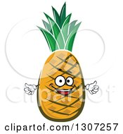 Clipart Of A Happy Pineapple Character Giving A Thumb Up Royalty Free Vector Illustration