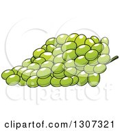 Clipart Of A Cartoon Bunch Of Green Grapes Royalty Free Vector Illustration