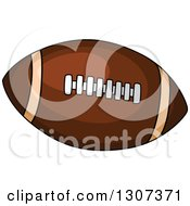 Cartoon Pigskin American Football