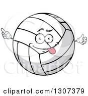 Clipart Of A Cartoon Goofy Volleyball Character Pointing And Giving A Thumb Up Royalty Free Vector Illustration