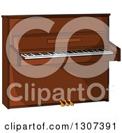 Clipart Of A Cartoon Piano Royalty Free Vector Illustration by Vector Tradition SM