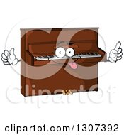 Clipart Of A Cartoon Goofy Piano Character Royalty Free Vector Illustration by Vector Tradition SM