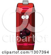 Clipart Of A Cartoon Happy Currant Juice Carton Character 3 Royalty Free Vector Illustration by Vector Tradition SM