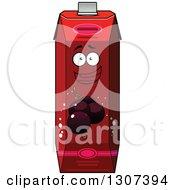 Clipart Of A Cartoon Happy Currant Juice Carton Character 3 Royalty Free Vector Illustration