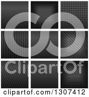 Clipart Of Carbon Fiber Textures 2 Royalty Free Vector Illustration