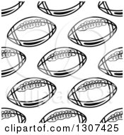 Background Pattern Of Seamless Black And White American Footballs