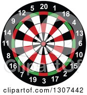Clipart Of A Cartoon Throwing Dart Target Royalty Free Vector Illustration by Vector Tradition SM