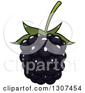 Clipart Of A Cartoon Blackberry Royalty Free Vector Illustration by Vector Tradition SM